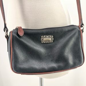 Fossil small crossbody black pebbled leather purse